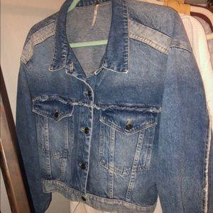 Free people jean jacket. Cute detail